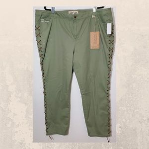Sheryl Crow Green Lace up Lets Skate Jeans 24w